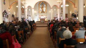 Julotta i den kaldisk-katolska Jungru Mariakyrkan i Bagdad på juldagen 2013