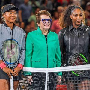 Naomi Osaka, Billie Jean King och Serena Williams.