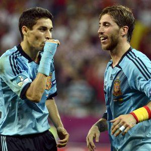 Jesus Navas och Sergio Ramos