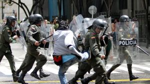 Demonstration i Bogota, Colombia