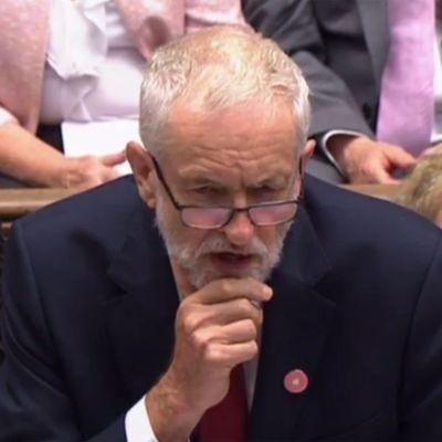 Den brittiske oppositionsledaren Jeremy Corbyn i parlamentet den 4 september 2019.