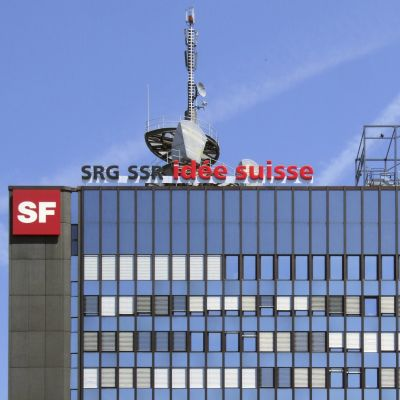 Schweiziska rundradions byggnad i Zürich Leutschenbach.