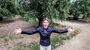 Ella Kanninen Italiassa. Kuva sarjasta Ellan matkassa