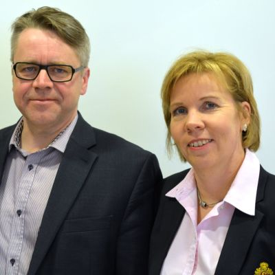 Peter Östman (KD) och Anna-Maja Henriksson (SFP)