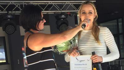 Muusikko Paula Vesala sai Juha Vainio -sanoittajapalkinnon vuonna 2016.