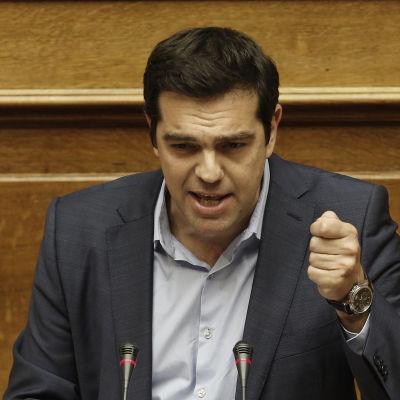 Greklands premiärminister Alexis Tsipras i Aten den 22 juli 2015.