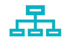 Symboli-kuva, jossa organisaatio-kuvio.