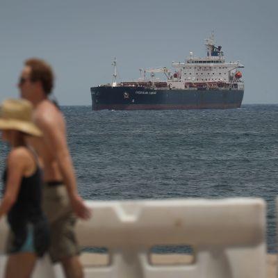 Oljetankern  Chemtrans Cancale utanför Fort Lauderdale i Florida den 20 april 2020.