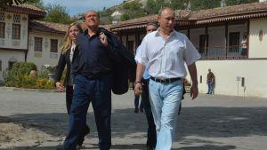 Rysslands president Vladimir Putin och Italiens ex-premiärminister Silvio Berlusconi på Krim.