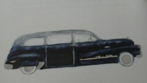 Buick Roadmaster Flexible, likbil, 1948 (Illustration: Neil Young)