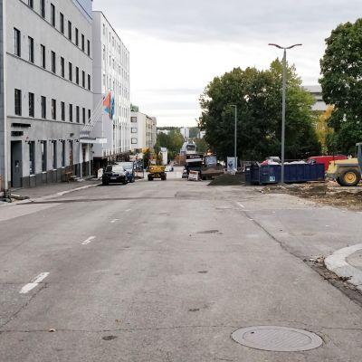 Kilpisenkatu Jyväskylän keskustassa.
