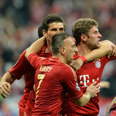 Thomas Müller segerartiktekt när Bayern slog Barcelona med 4-0.