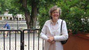 Språkläraren Liisa Lavón har undervisat elever av 13 olika nationaiteter