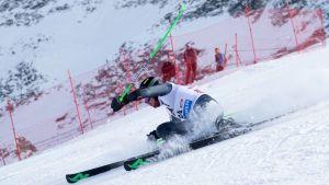 Det blev bara ett åk för Samu Torsti i världscuptävlingen i Garmisch-Partenkirchen.