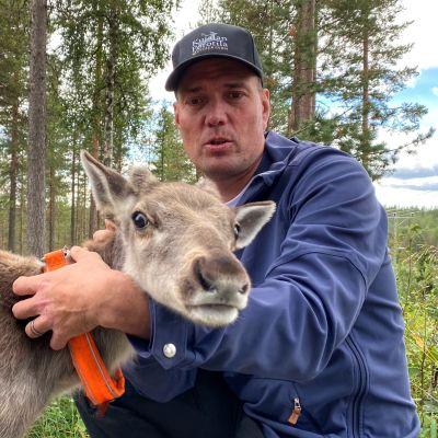 Juha Kujala ja Ukko poro.