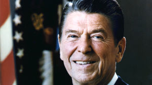 Ronald Reagan, amerikansk president.