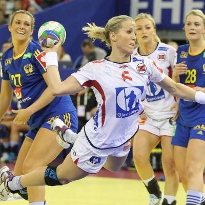 Heidi Löke var Norges bästa målskytt i semifinalen.