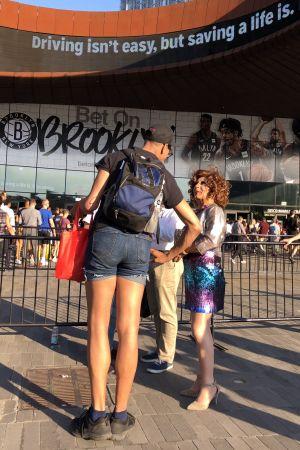 Publik vid Pride-evenemang i Brooklyn