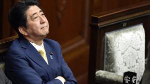 Japans premiärminister Shinzo Abe