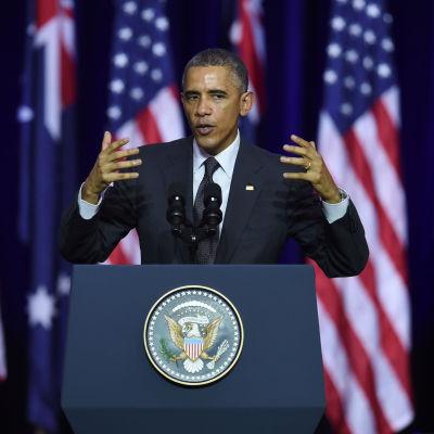USA:s president Barack Obama under G20-toppmötet i Brisbane.