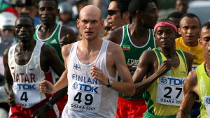 Janne Holmén springer maraton i VM 2007.