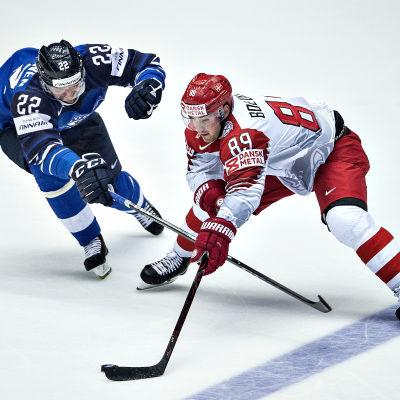 Mikkel Bödker i matchen Danmark-Finland.