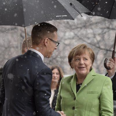 Förbundskansler Angela Merkel i Helsingfors den 30 mars 2015.