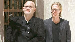 Författarna Börge Hellström och Anders Roslund
