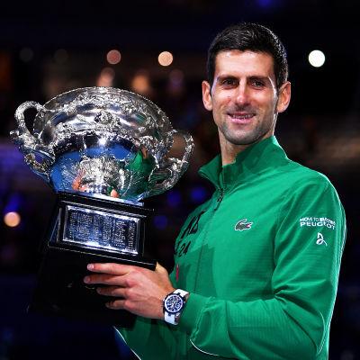 I februari vann Novak Djokovic grand slam-turneringen Australian Open.