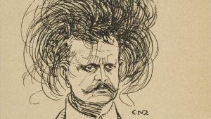 C. Meurlinin pilapiirros Jean Sibeliuksesta Velikulta-lehdessä 1901