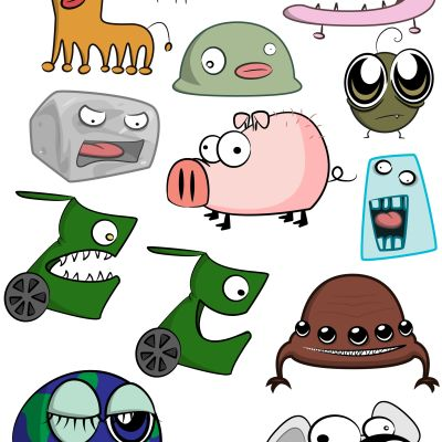 tecknade figurer
