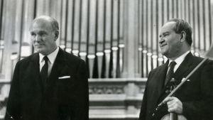 Pianotaiteilija Svjatoslav Richter ja viulutaiteilija David Oistrah.