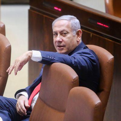 Benjamin Netanyahu i Knesset den 19.7.2018