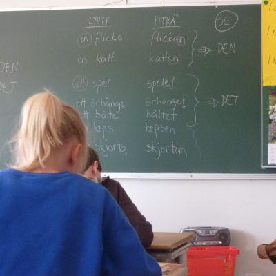 Svenskaundervisning, Bjärnå skola