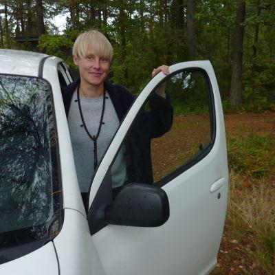 Sandra Nyberg är en av de som erbjuder skjuts på fredag.