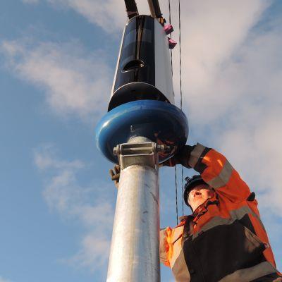 Uuden sukupolven ensimmäinen kameratolppa asennettiin nelostielle Sysmän Onkiniemeen lokakuussa.
