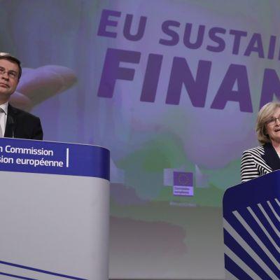 Valdis Dombrovskis ja Mairead McGuinness