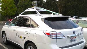 Förarlös bil som testas av Google.