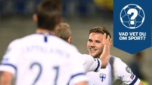 Benjamin Källman firar sitt kvalmål mot Liechtenstein.