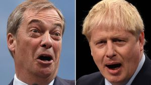 Nigel Farage och Boris Johnson