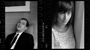 Jörn Donner och Harriet Andersson på bilder som de tagit av varandra 1963.