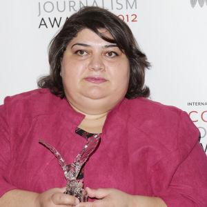 Azerbaidzhanilainen tutkiva toimittaja Khadija Ismailova.