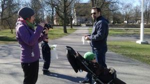 Ingåbor förbereder sig för städtalko lördagen den 25 april.
