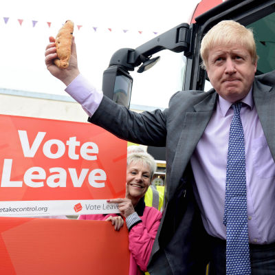Boris Johnson under brexitkampanjen.
