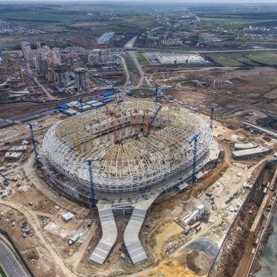 Stadionbygge inför fotbolls-VM 2018.