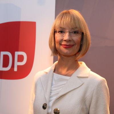 Porträttbild av Socialdemokraternas riksdagsledamot Tytti Tuppurainen.