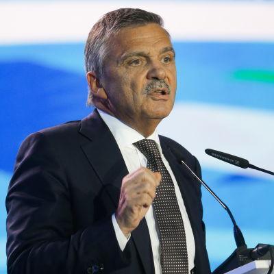 René Fasel talade på ett sportseminarium i Ryssland i oktober 2016.