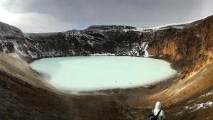 Viti-kraaterijärvi Islannissa.