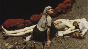 Lemminkäinens moder vid sonens döda kropp av Akseli Gallen-Kallela