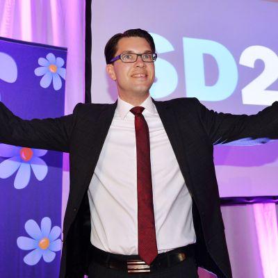 Sverigedemokraternas ordförande Jimmie Åkesson 14.9.2014